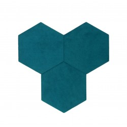 Textil Tiles Deep Sky Blue 3 pcs.