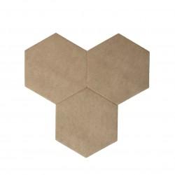 Textil Tiles Light Brown 3 pcs.